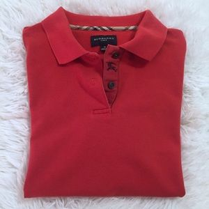 Burberry Golf Red Polo Shirt Size Small
